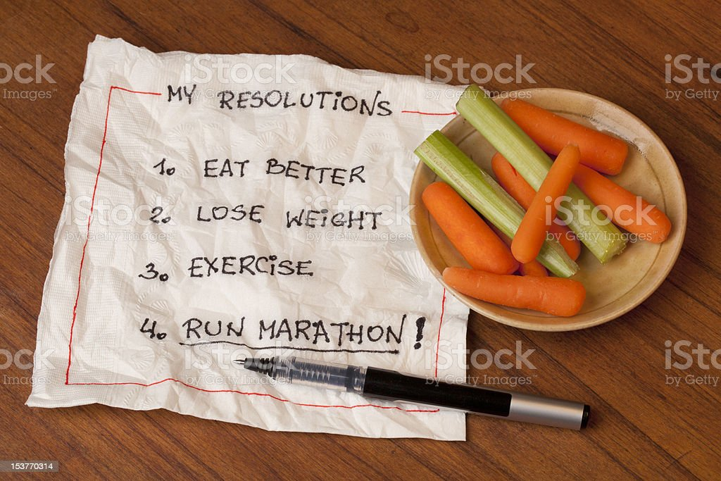 run marathon resolutions stock photo