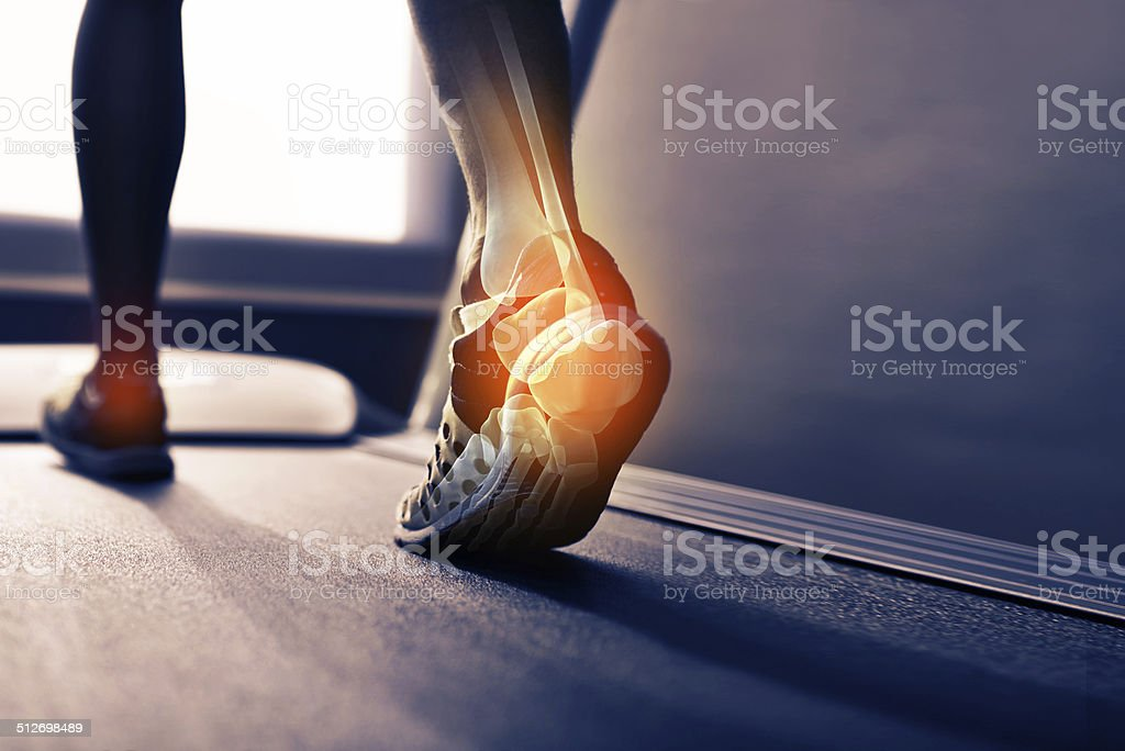 Run off your heels stock photo