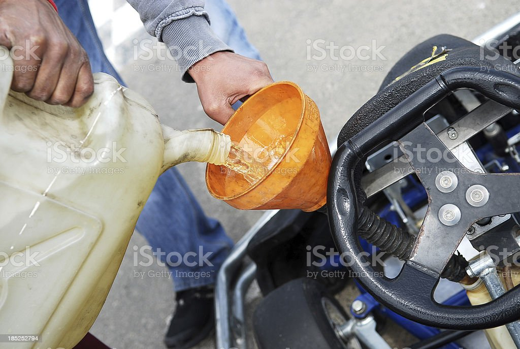 Run out of gas stock photo