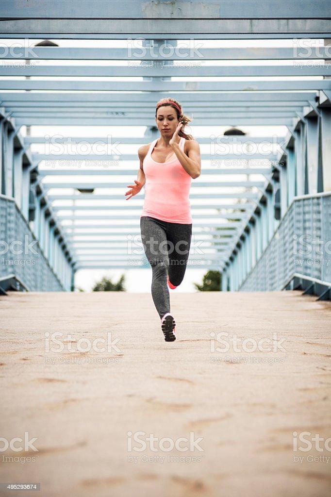 Run! stock photo