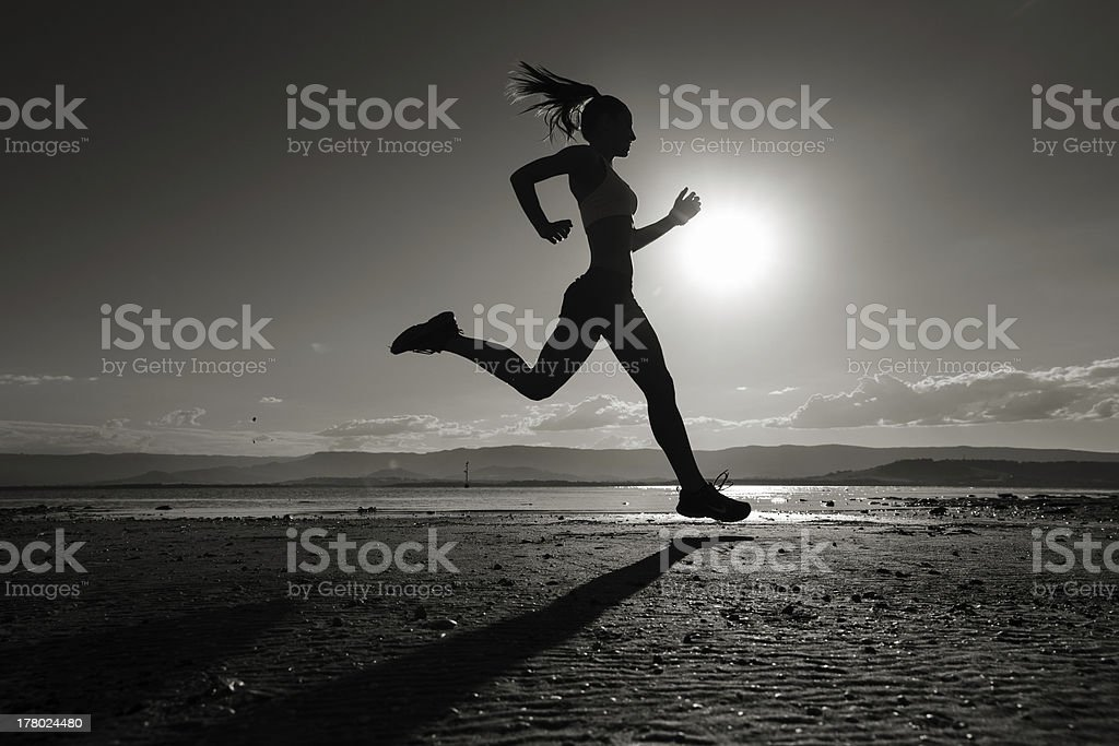 run silhouette close royalty-free stock photo