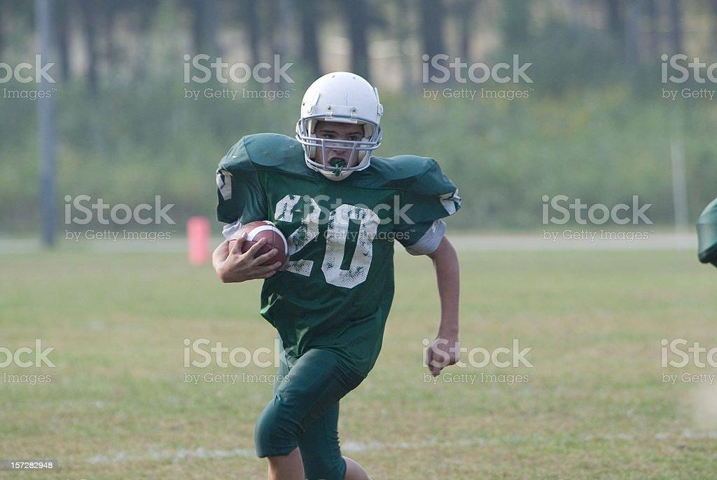 Run the ball stock photo
