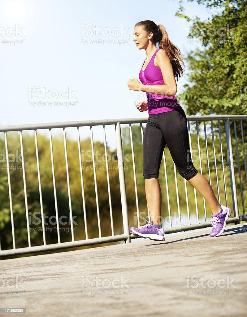 Run through the pain royalty-free stock photo