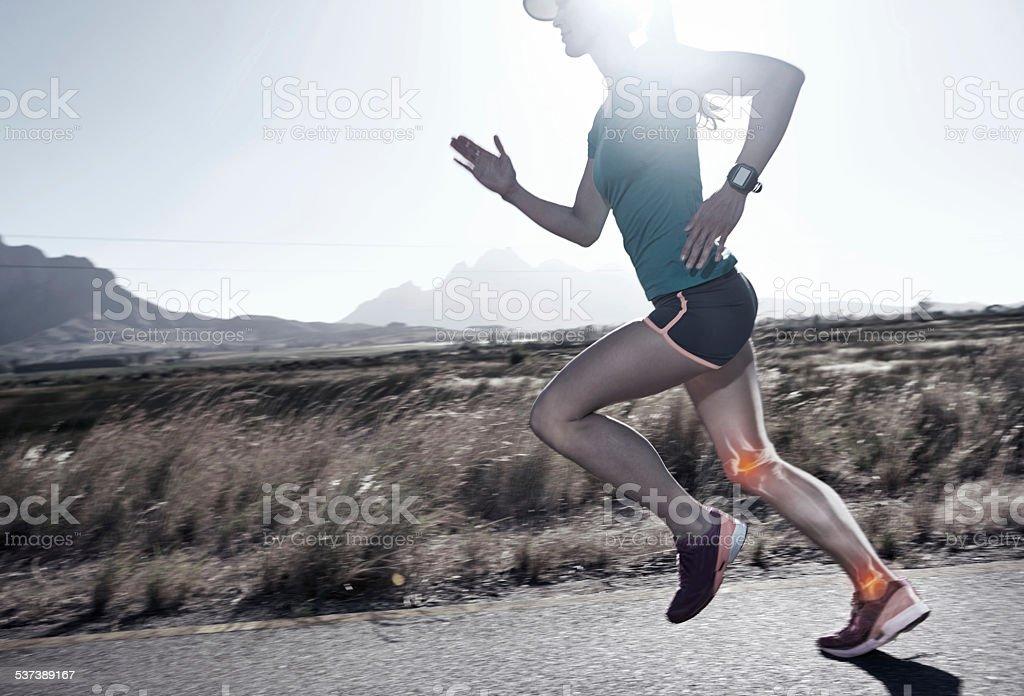 I run to breathe the fresh air stock photo