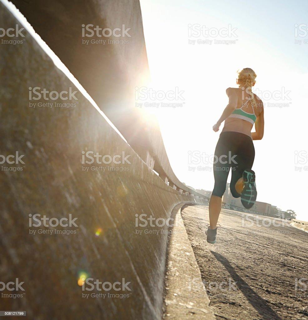 I run to feel free stock photo