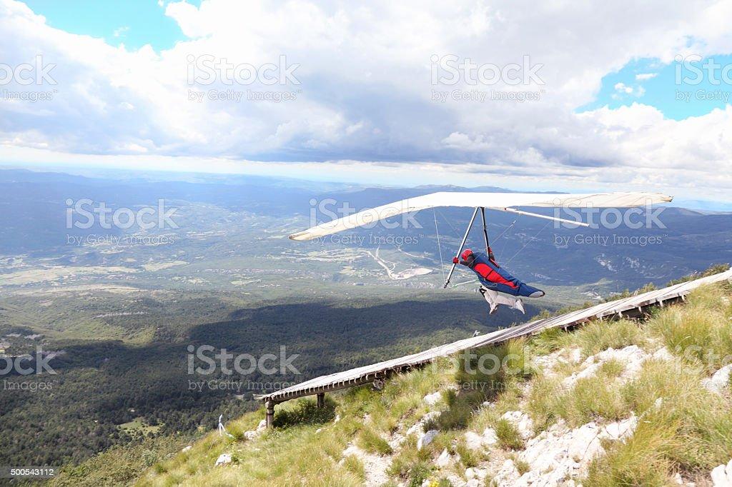 Run to fly stock photo