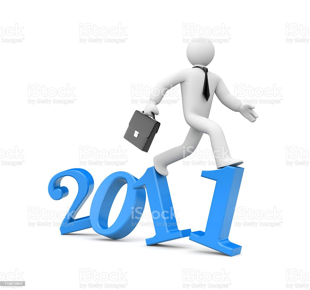 Run to new year royalty-free stock photo
