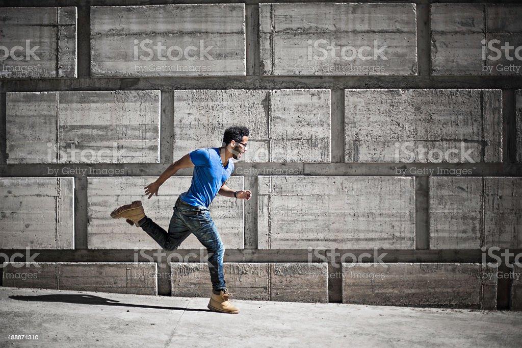 Run to success stock photo