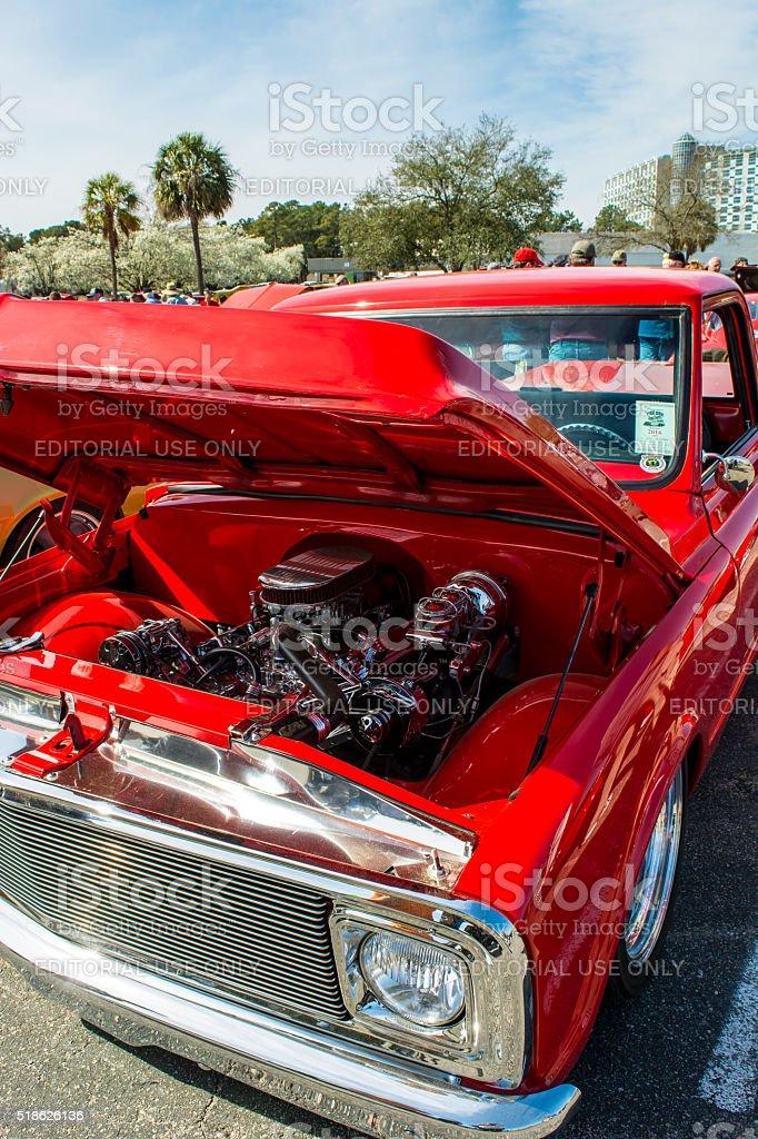 Run to the Sun Car Show, Myrtle Beach SC 3.18.2016 stock photo