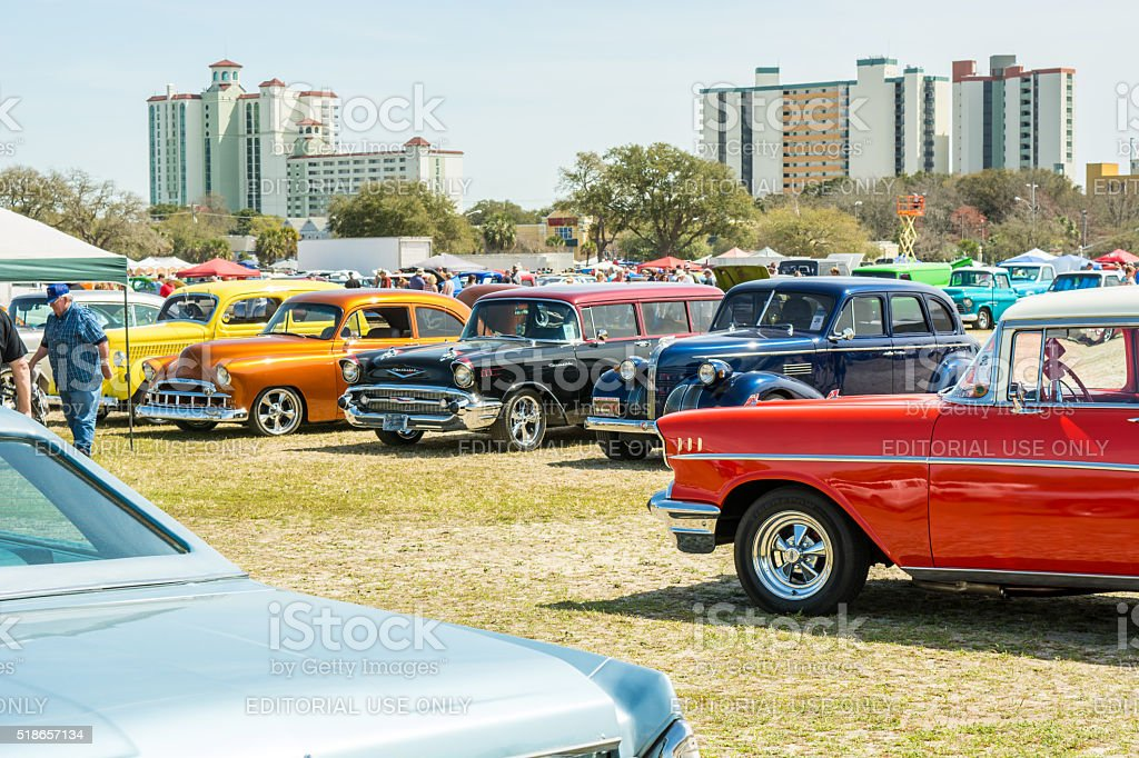 Run to the Sun Car Show, Myrtle Beach SC 3.18.2016 stock photo