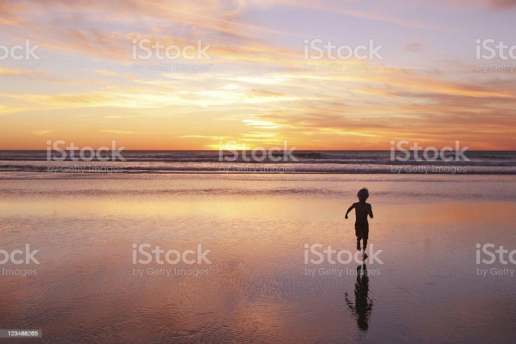 run to the sun stock photo
