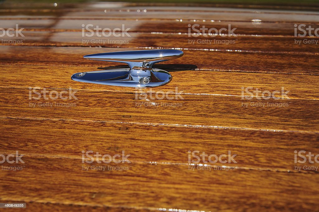 Runabout Foredeck Cleat II stock photo