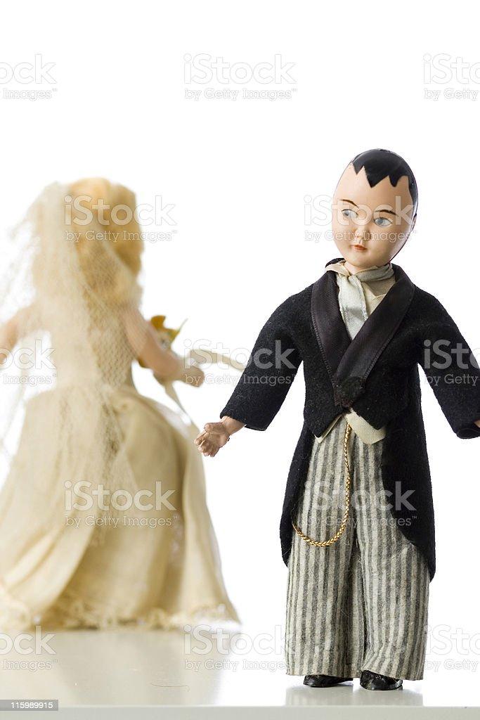 Runaway Bride royalty-free stock photo