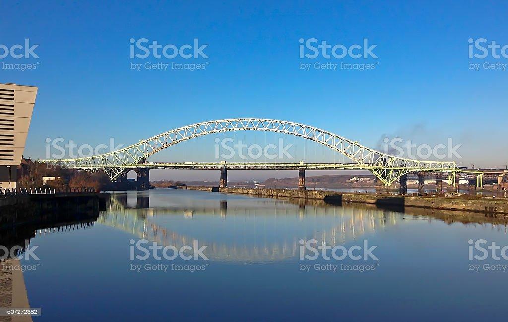 Runcorn Widnes Bridge Cheshire stock photo