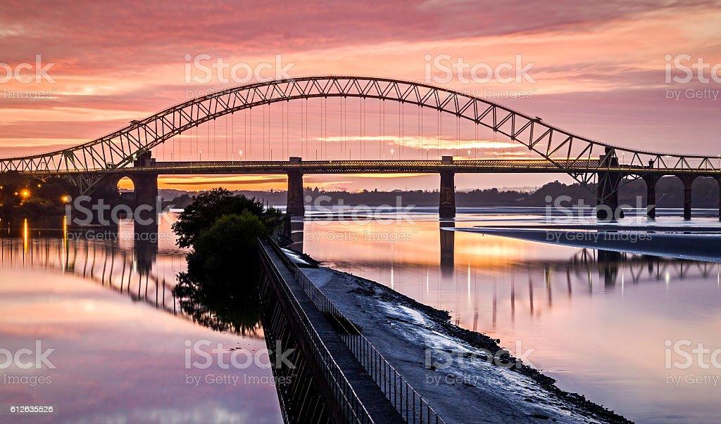 Runcorn Widnes Bridge, Cheshire stock photo