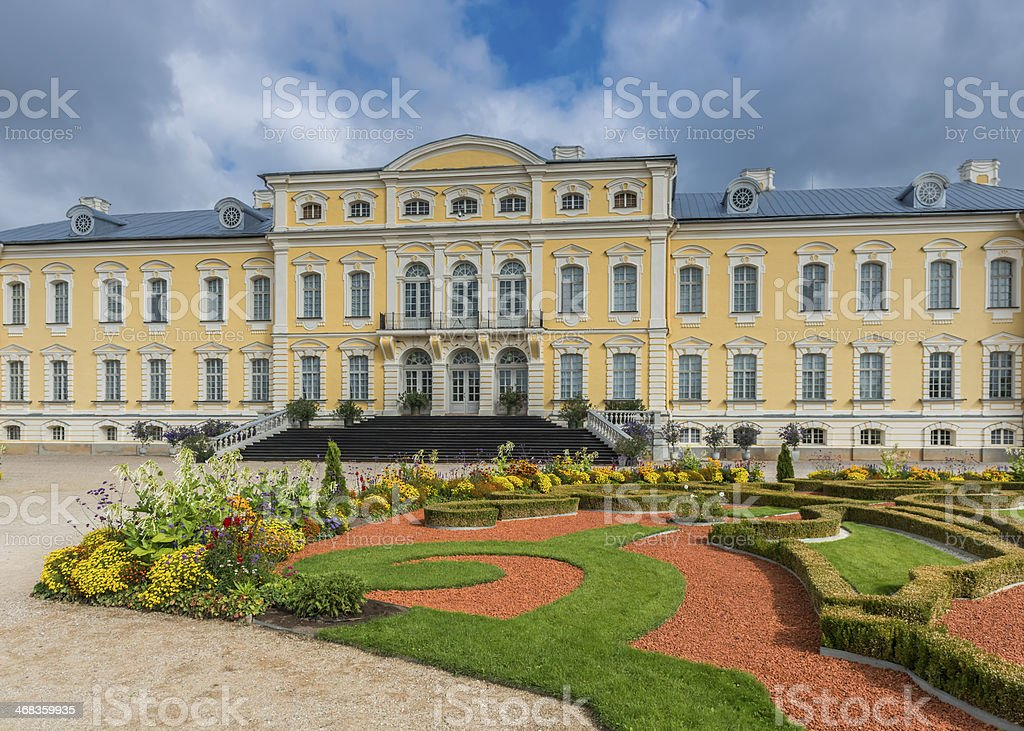 Rundale palace, governmetal historic museum, Latvia stock photo