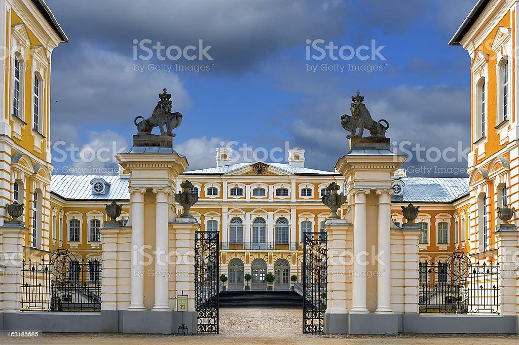 Rundale palace, Latvia, Europe stock photo
