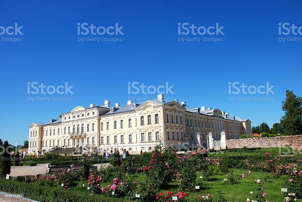 Rundale palace, Latvia royalty-free stock photo
