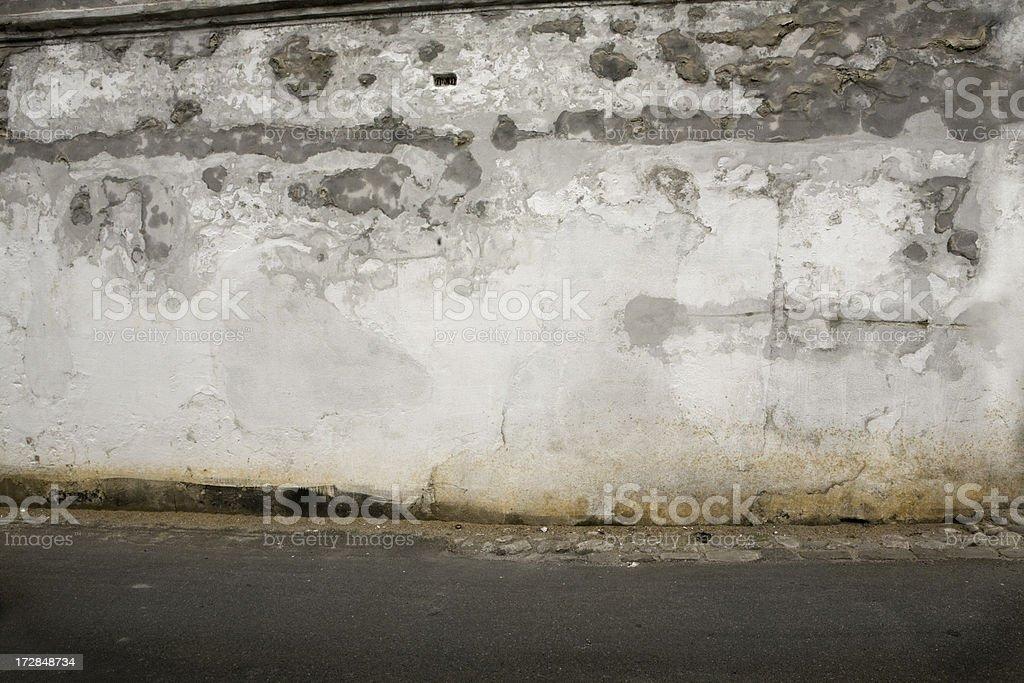Run-down concrete wall royalty-free stock photo