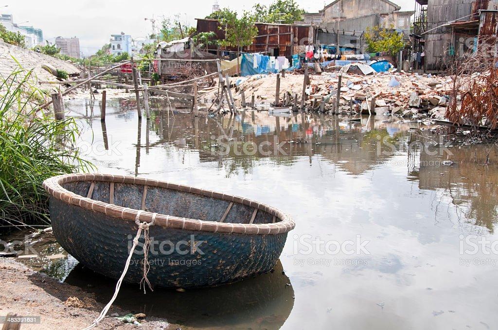 Rundown Housing Area In Nha Trang, Vietnam stock photo
