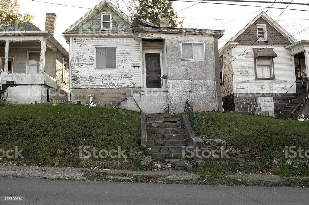 run-down housing, Fairmont, West Virginia royalty-free stock photo