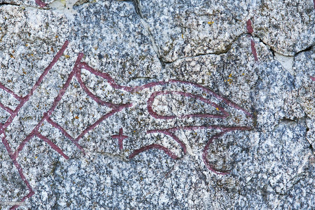 Rune stone detail royalty-free stock photo