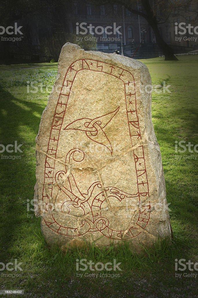 Rune Stone stock photo
