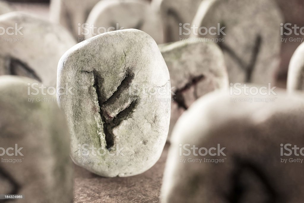 Rune Stones royalty-free stock photo