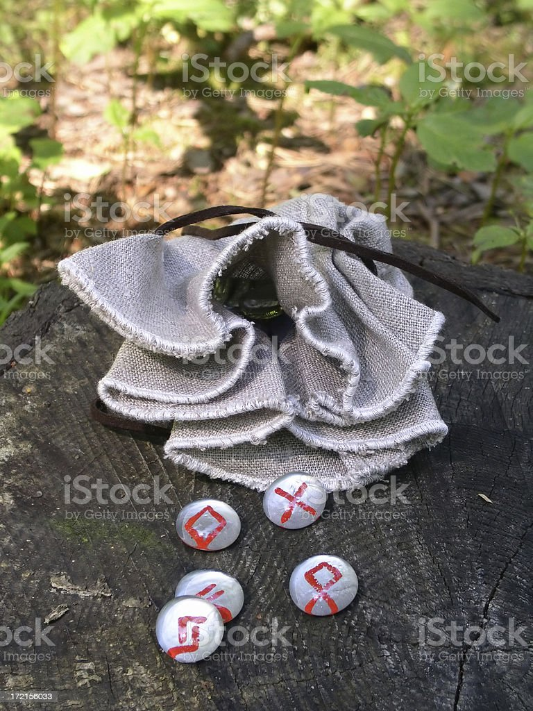 Rune Stones - Spilled royalty-free stock photo