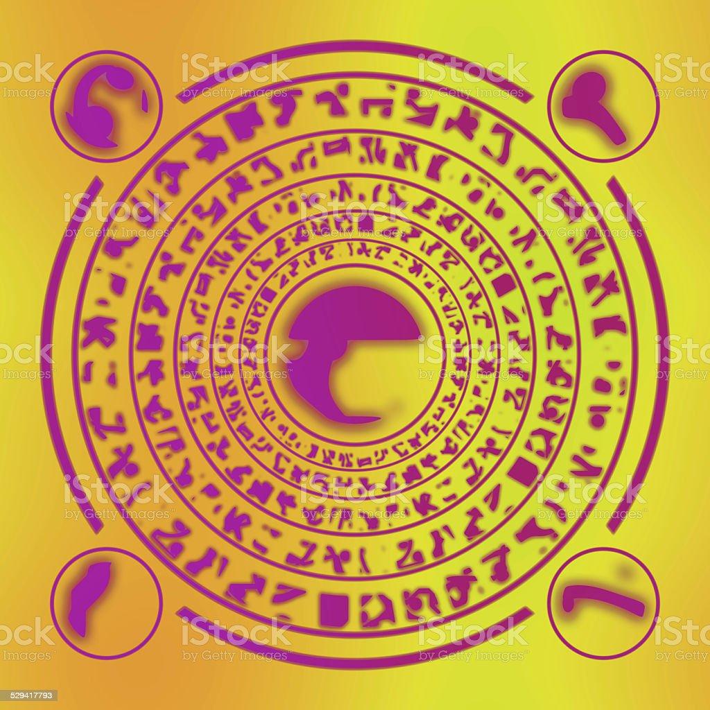 Runes generated hires texture stock photo