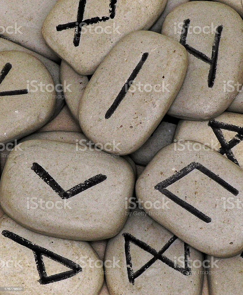 runes of old stock photo