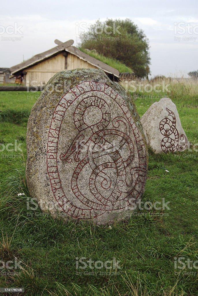 Runestones stock photo
