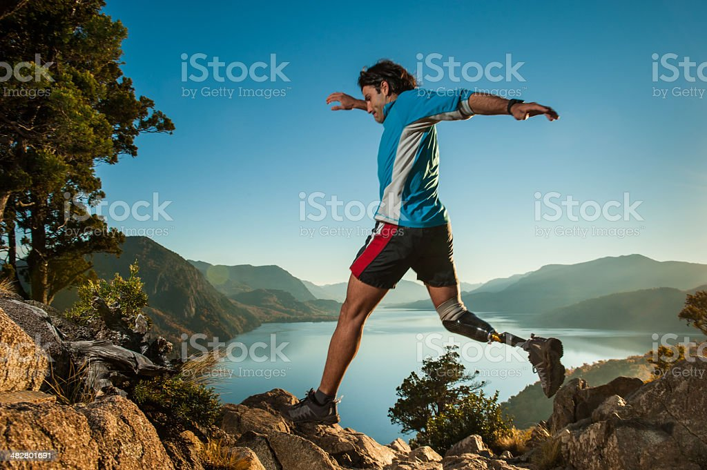 Runing in Patagonia Argentina stock photo