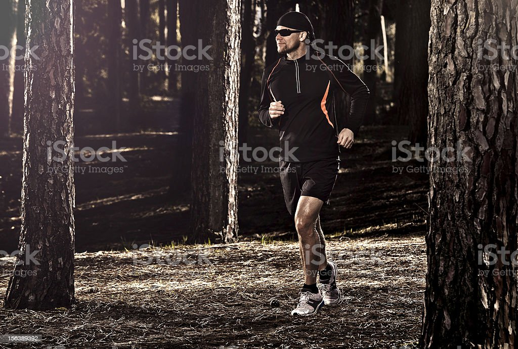 Runing in the forest royalty-free stock photo