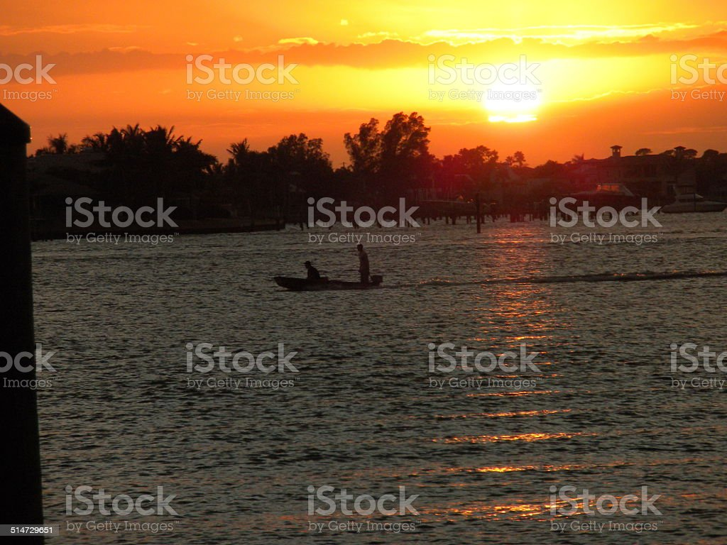Runing out of daylight. stock photo