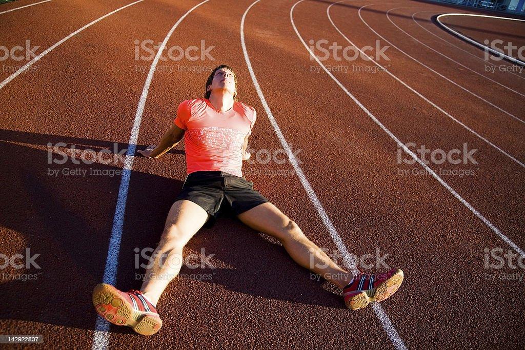 runner after run stock photo