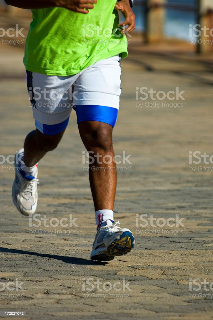 Runner at a pace royalty-free stock photo