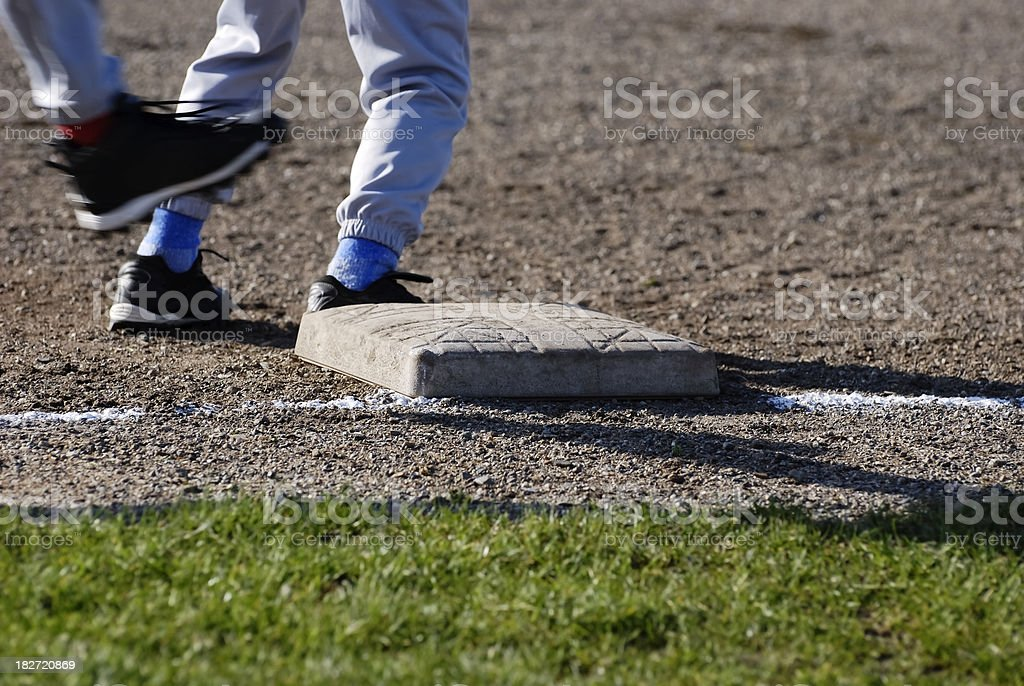 Runner at First Base stock photo