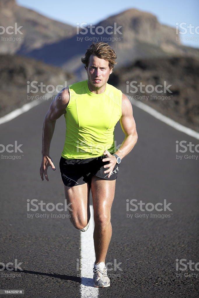Runner athlete running stock photo