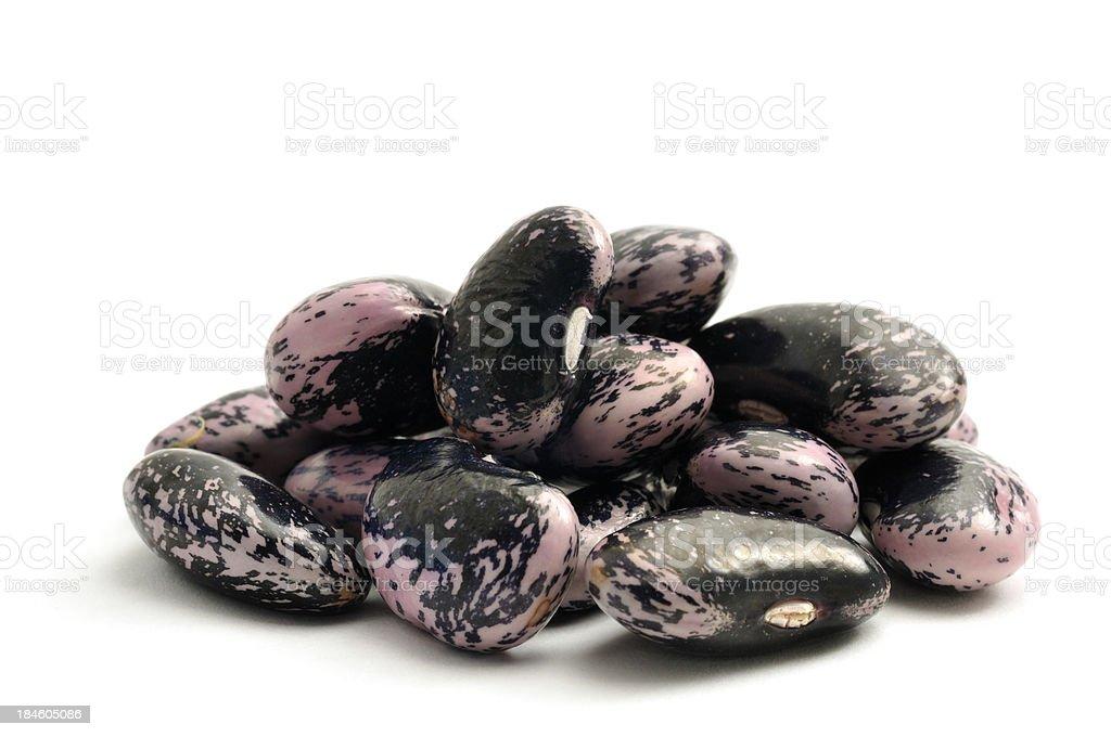 Runner bean seeds stock photo