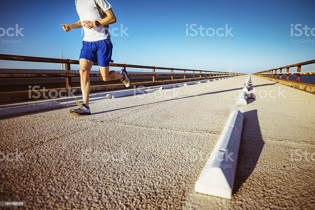 Runner Florida Keys stock photo