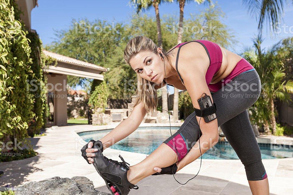 Runner Girl Stretching royalty-free stock photo