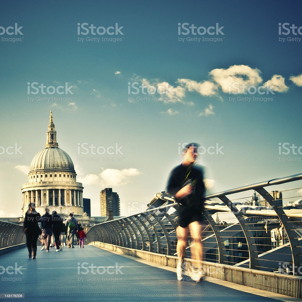 Runner in London royalty-free stock photo