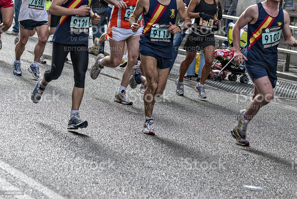 Runner in Madrid, Spain royalty-free stock photo
