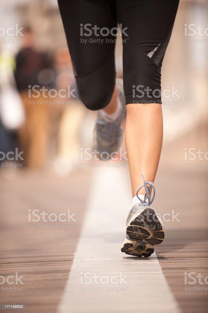 Runner in New York royalty-free stock photo
