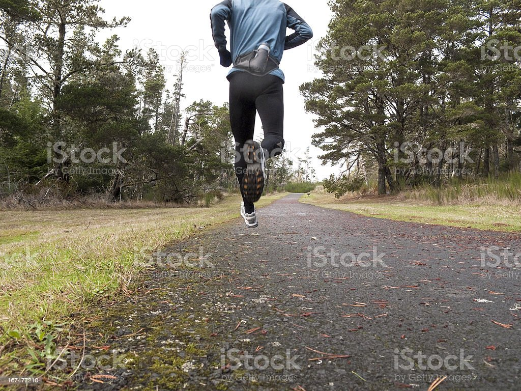 Runner in Park royalty-free stock photo