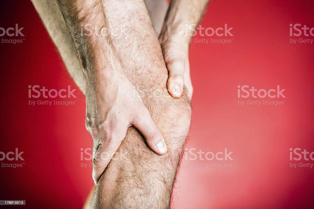 Runner knee pain XXXL royalty-free stock photo