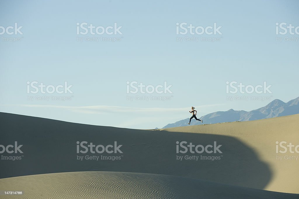 Runner on Dunes royalty-free stock photo