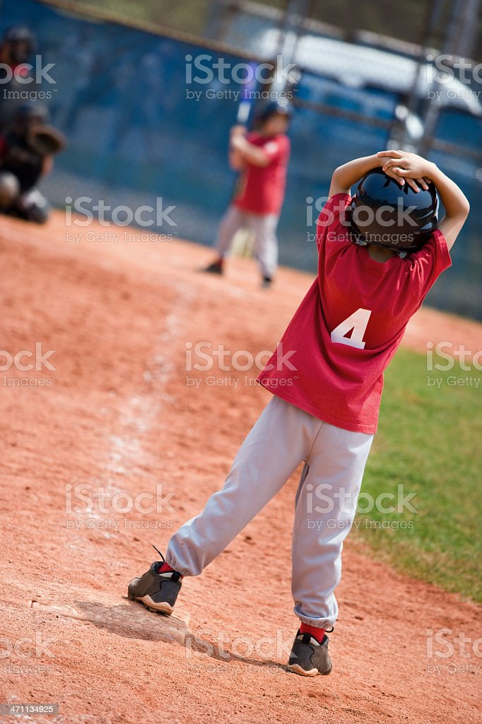 Runner on first royalty-free stock photo