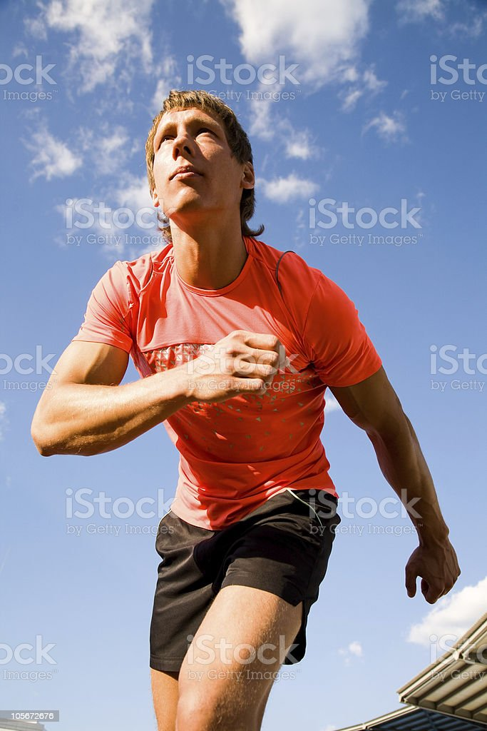 runner on start royalty-free stock photo